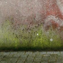 Des traces sur une façade